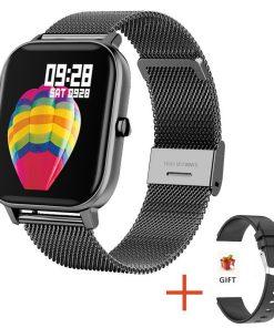 2020 New P8 Color Screen Smart Watch Women men Full Touch Fitness Tracker Blood Pressure Smart Clock Women Smartwatch for Xiaomi
