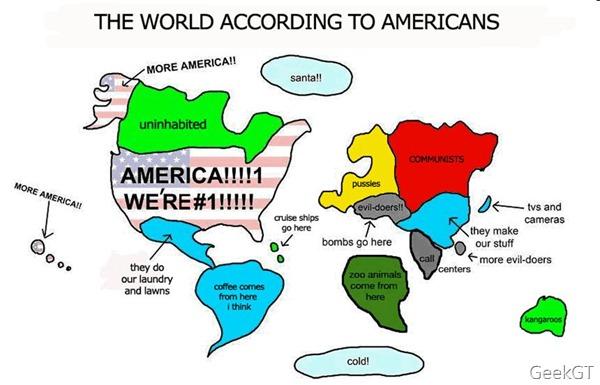 El mundo visto desde USA