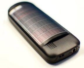 Nokia C1-02 con paneles solares