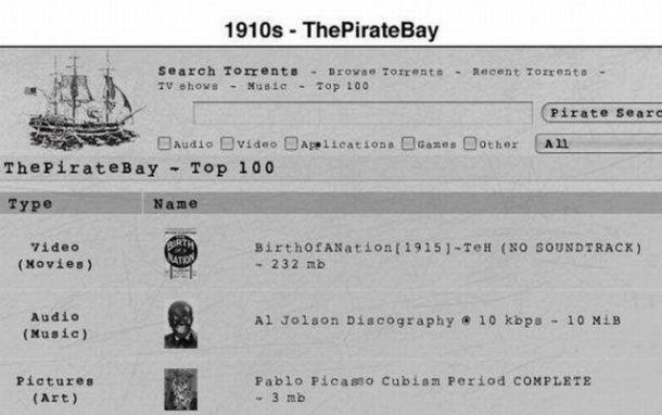 Pirate Bay en 1910