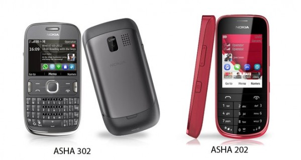 Nokia Asha 202 y 302