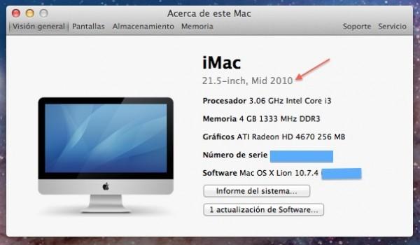 Información Acerca de este Mac
