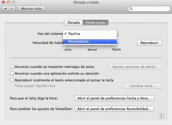 Que hable la Mac