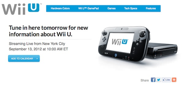 streaming del evento de Nintendo WiiU