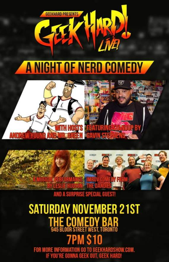 All of this awesome entertainment will come your way this Saturday at Comedy Bar in Toronto!