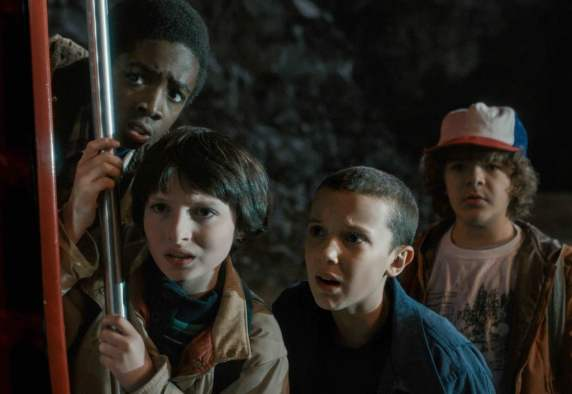 """Stranger Things - """"The Goonies"""" crew for a new era."""