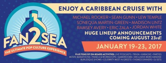 Fan2Sea is sporting a stellar lineup for a First Year Con. Get on the boat for this one.