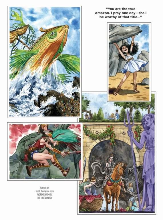 Breathtaking Artwork by Jill Thompson in Wonder Woman: True Amazon.