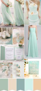 colour palette: summer beach wedding
