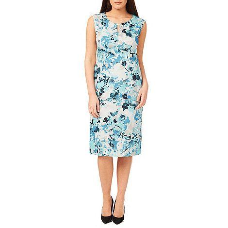 Windsmoor Printed Aqua Dress