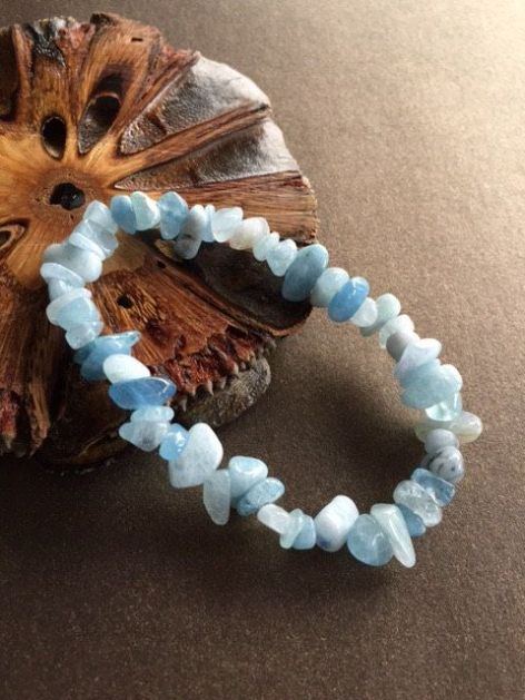 aquamarine chip bracelt