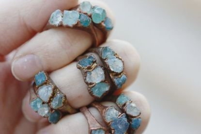 raw aquamarine rings