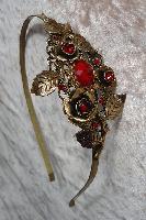 Floral Headband – Bronze Roses