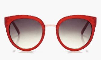 oversized red sunglasses