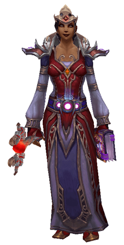Astonishingly Scarlet Mage Transmog Set - Front View