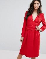 BA&SH Red Midi Dress