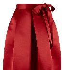 Closet Berry Satin Bow Skirt