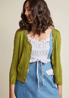 Charter School Cardigan in Chartreuse