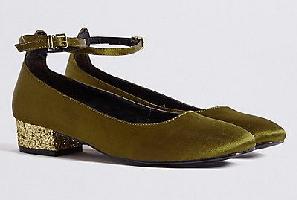 Block Heel Ankle Strap Court Shoes Block Heel Ankle Strap Court Shoes