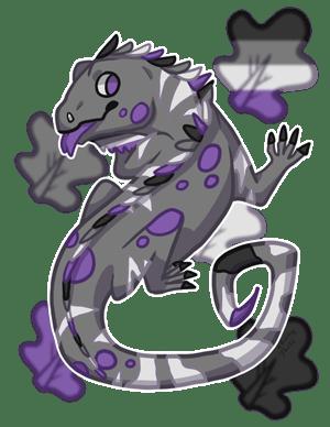 Ace Iguana by EbonyTails