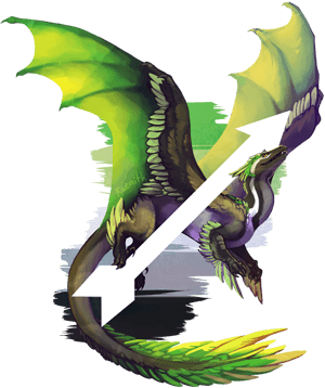Aromantic Pride Dragon by Kaenith