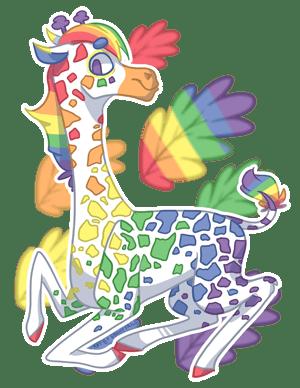 Gay Giraffe by EbonyTails