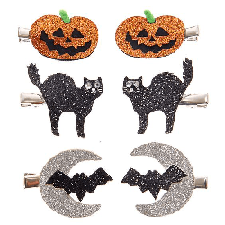 Halloween glitter hair clip selection from Claire's