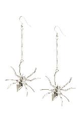 Spider earrings from Primark