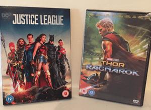 dvds-justice-league-thor-ragnarok
