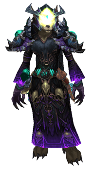 Lessons of Fel & Death Warlock Transmog Set - Front View Sheathed