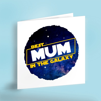 Best Mum in the Galaxy card by NerdiverseDesigns
