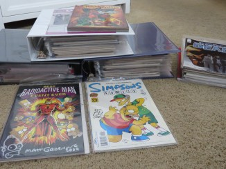 an organized comic book collection