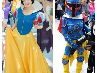 Amber Arden as Snow White and Snoba Fett