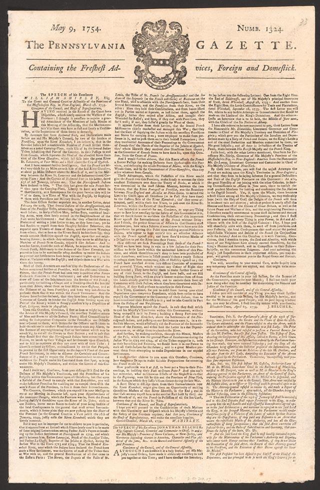 The Pennsylvania Gazette - public domain image