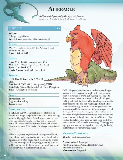cool eagle creature for pathfinder