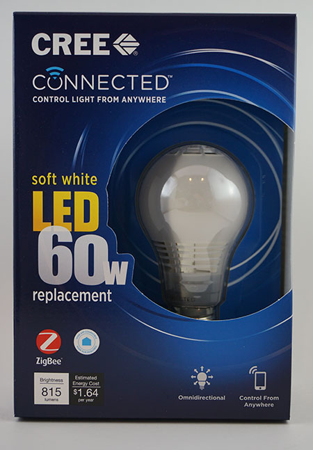 CREE Connected Smart LED Bulb - Front of Box