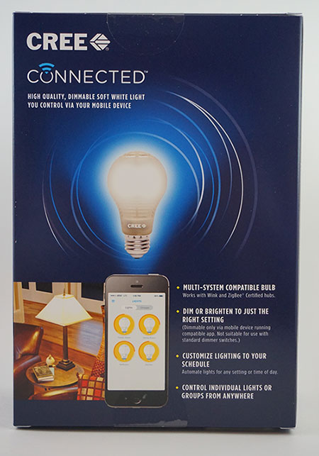 CREE Connected Smart LED Bulb - Back of Box