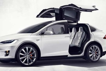 Tesla Motors All Electric Model X Crossover with Seating for Seven