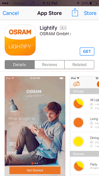 OSRAM LIGHTIFY - App Store Download