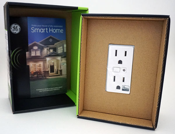 GE InWall ZWave Smart Outlet Opened Box