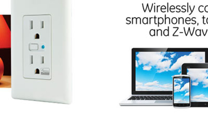 GE In-Wall Z-Wave Smart Wireless Receptacle Outlet