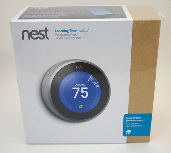 Nest 3rd Generation Thermostat - Front Box
