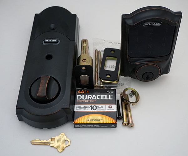 Schlage Z-Wave Touchscreen Door Lock - What's Included