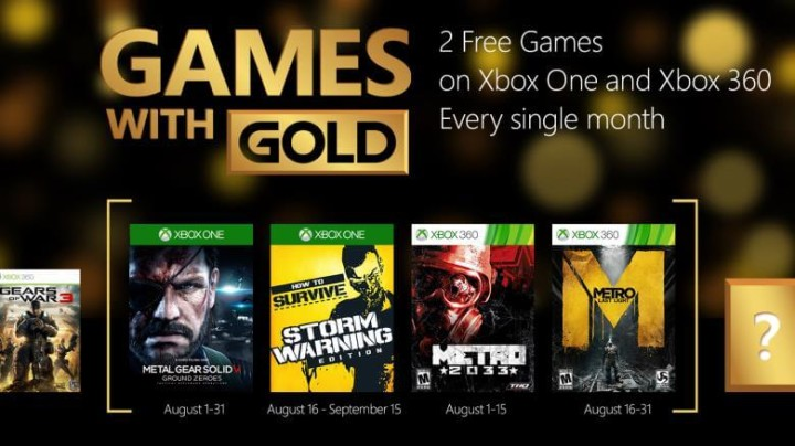 Games With Gold For August Revealed