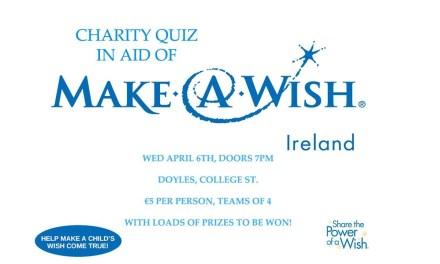 Quiz for Make a Wish Ireland