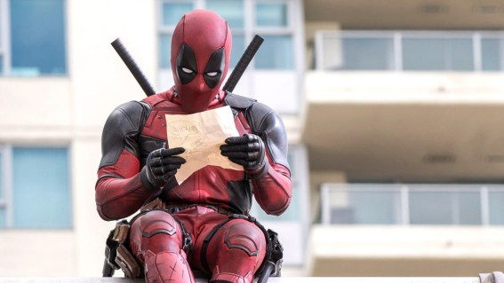 Deadpool reading his plans