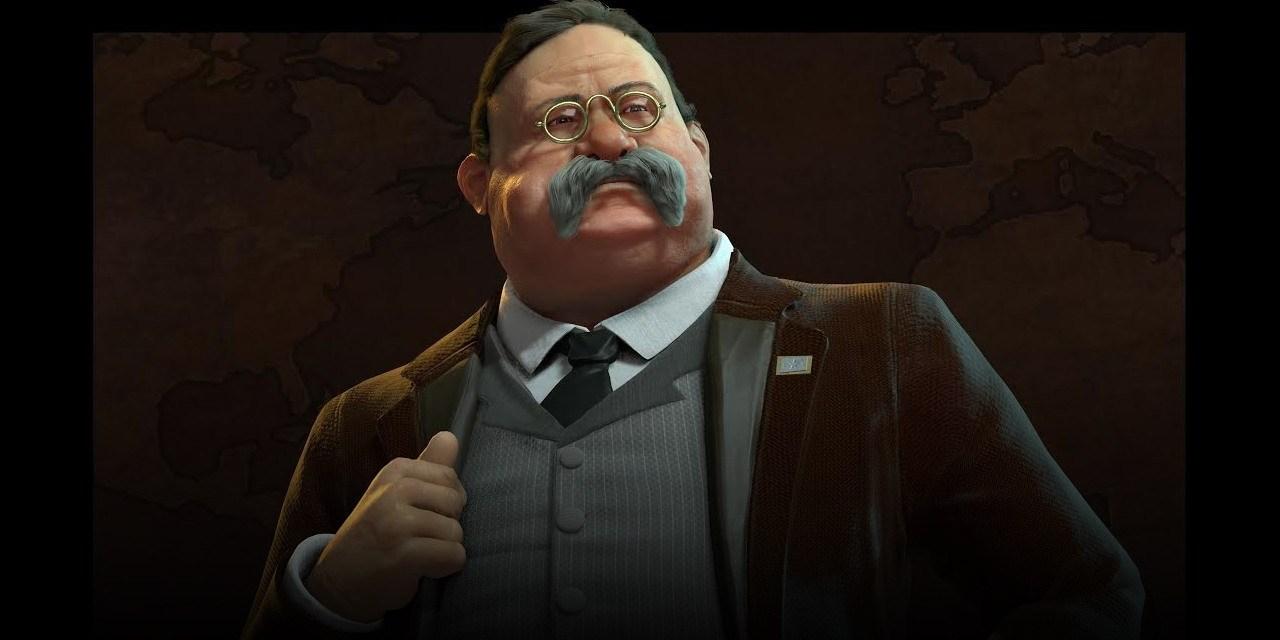 Theodore Roosevelt leads America in Civilization VI