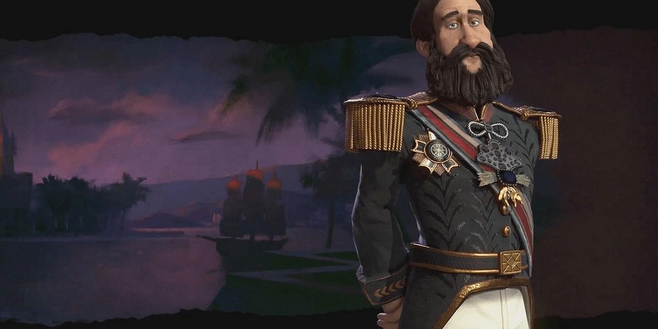 Pedro II leads Brazil in Civilization VI