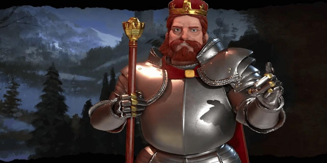 Frederick Barbarossa leads Germany in Civilization VI