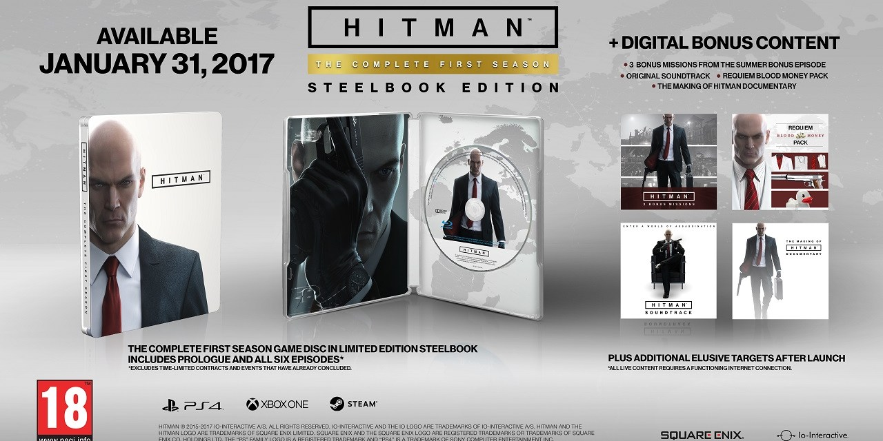 HITMAN: The Complete First Season details have been announced!